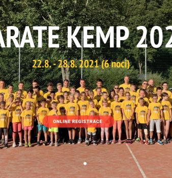 Letní kemp karate pro děti, mládež, dospělé 2021